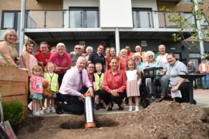Time capsule buried at Saxon Court