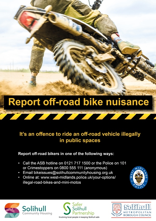 Report off-road bike nuisance